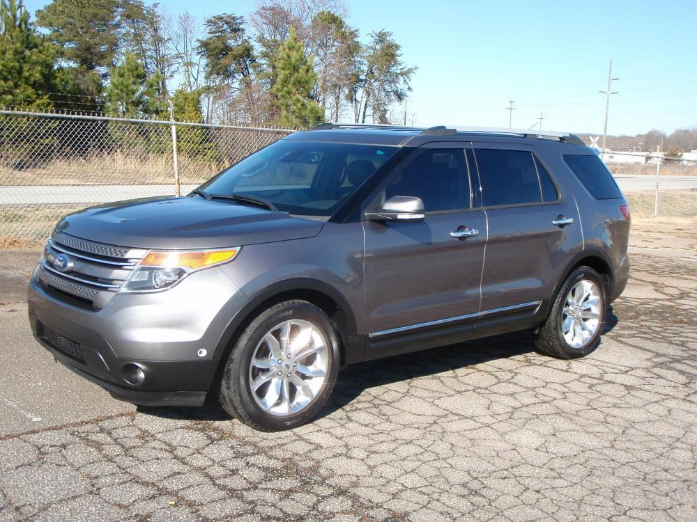 2014 Gray /BLACK Ford Explorer Limited FWD (1FM5K7F87EG) with an 3.5L V6 DOHC 24V engine, 6-Speed Automatic transmission, located at 2812 White Horse Road, Greenville, SC, 29611, (864) 269-1711, 34.808655, -82.434776 - Photo #0
